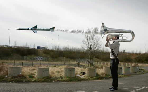 ракета, труба, обстановка