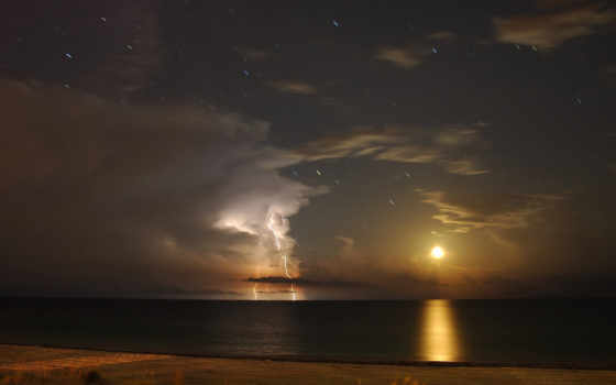 море, буря, небо, гладь, горизонт, водная, янв,