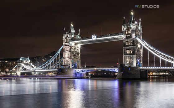 london, город, мост
