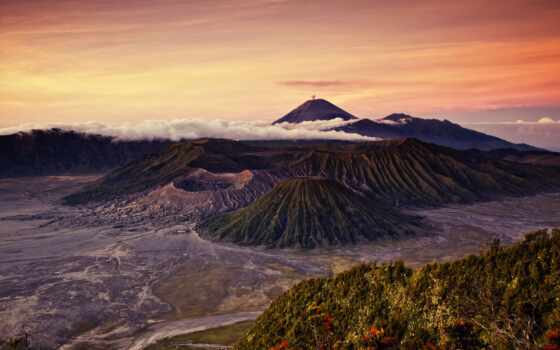 бромо, mount, indonesia, semeru, tengger, park, national, this,