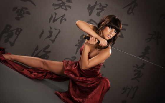 девушка, оружие, меч, боевики, катана, зарубежные, devushki, art, фильмы, русские, кавказская,