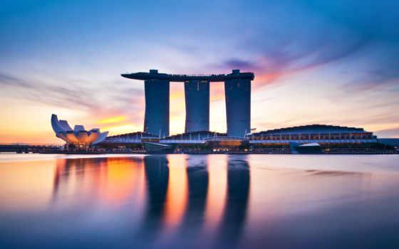 singapore, марина, bay, sands, hotel, architecture, сингапуре, здания,