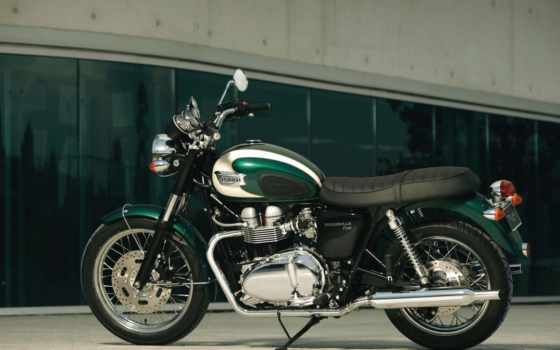 triumph, bonneville, and, motorcycle, the, мотоцик