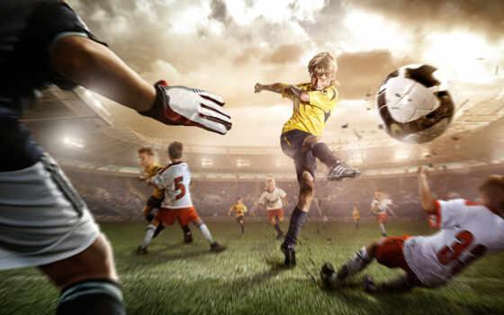 футбол, удар, мяч