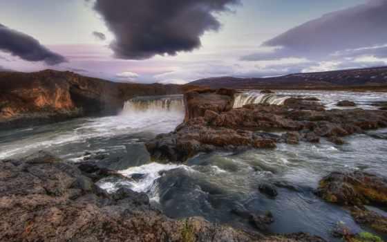 водопады, природа, park