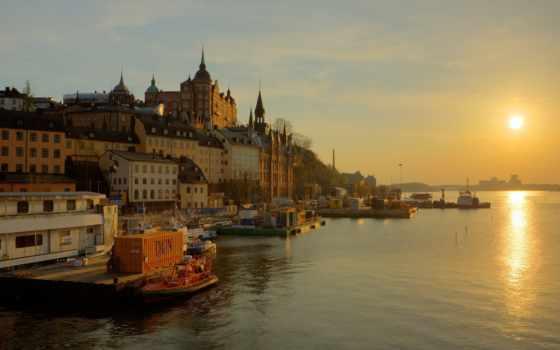 sweden, stockholm, набережная