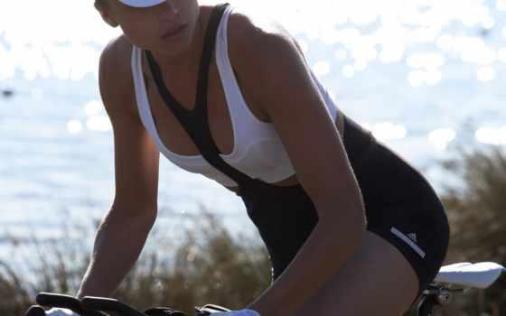 велосипед, девушка, anouck
