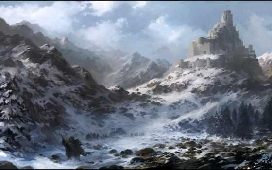 рисунков, little, montañas, que, winter, rocha, wallpapersafari, las,