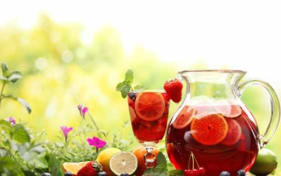 ягода, чая, напиток