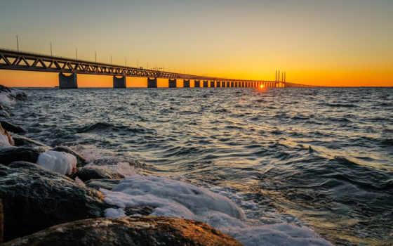 мост, oresund Фон № 14886 разрешение 1920x1200