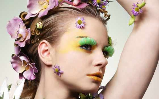 макияж, прически, девушки