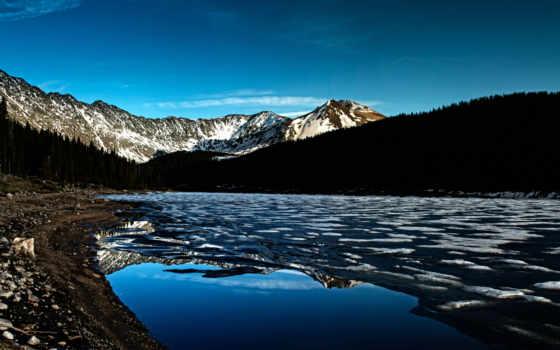 лед, гора, красивые
