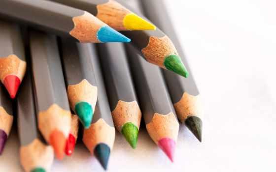 офис, цветные, pencil, карандаши, pin, товар,