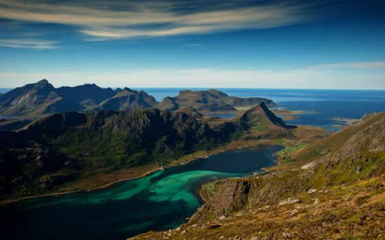 природа, desktop, побережье, нояб, широкоформатные, free, bay, горы,