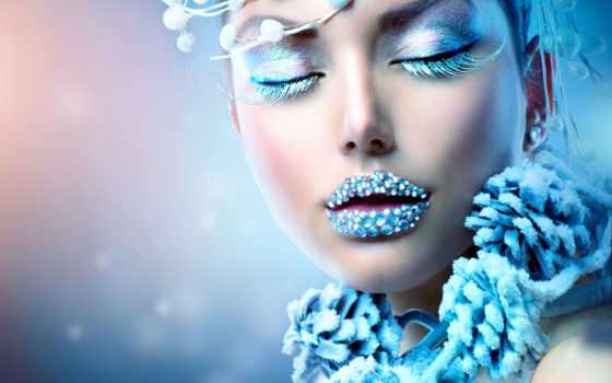 christmas, девушка, stock, макияж, winter, женщина, красавица, images, фото, снег,
