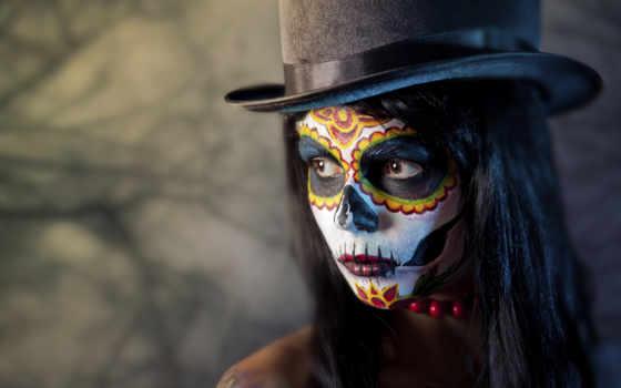 день, dead, макияж, muertos, dia, los, pinterest, череп,