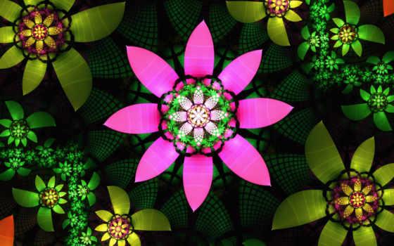 flowers, fractal, , evelina,