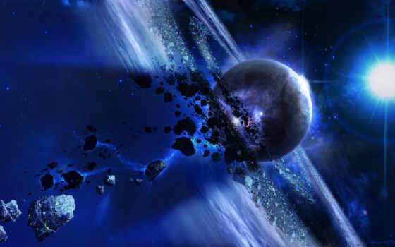 планета, астероиды Фон № 24560 разрешение 2560x1440