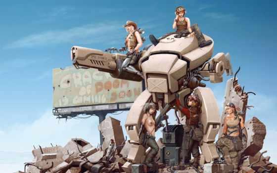 robot, art, разруха
