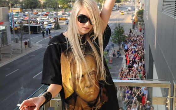 blonde, черных, очках