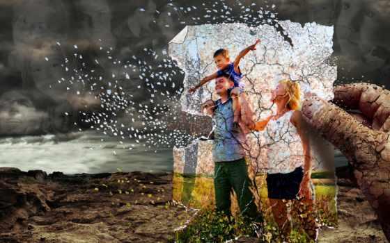 семья, картинка, art