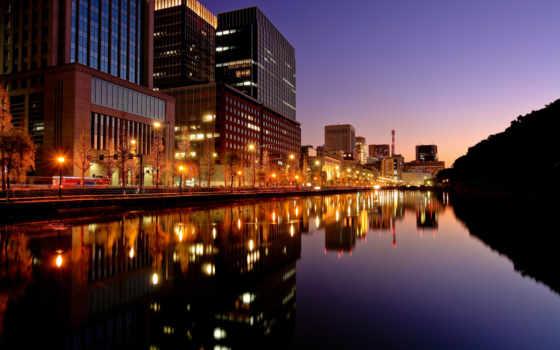 город, japanese, tokio, ночь, огни, телефон, города,