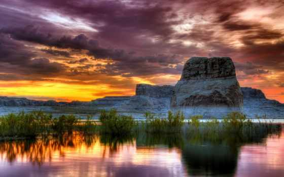 коллекция, озеро, экрана, горы, distance, reservoir, природа, красивые,