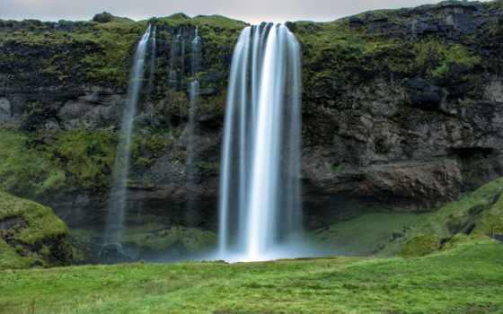 seljalandsfoss, водопад, iceland, селйяландсфосс, pack, mixed, водопады,