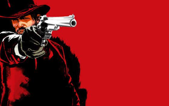 ковбой, шляпа, red, dead, redemption, пистолет, game, lasso, лошади,