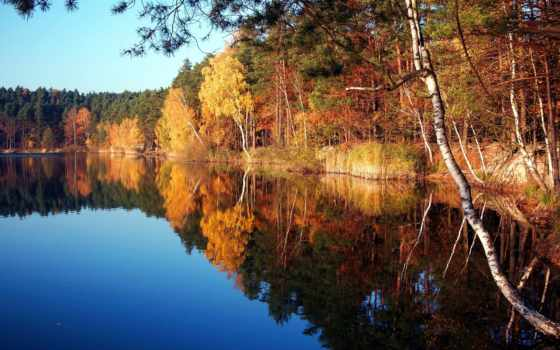 озеро, осень, desktop, poland, silver, imagini, turawa, darmowe, ополе, side,