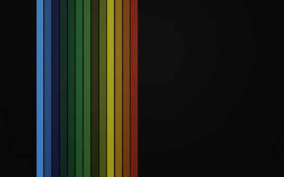 black, simple, rainbows, фон, радуга, desktop,