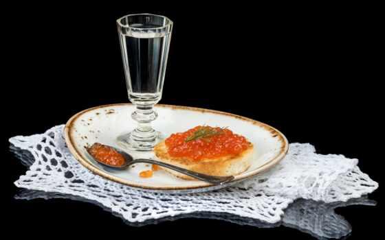 meal, тематика, бутерброд, glass, водка, табличка, икра, lozhok