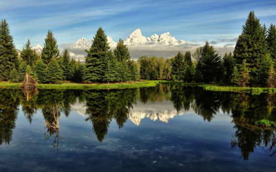 горы, лес Фон № 25037 разрешение 1920x1080