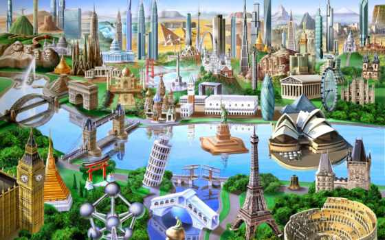 world, landmarks