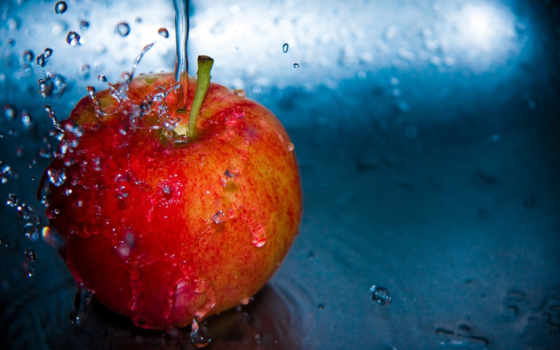 apple, water, fruits