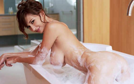 shay, laren, devushki, sam, июня, шатенки, голые, красивые, ванна,