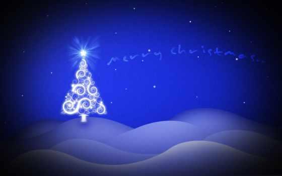 christmas, blue, фон