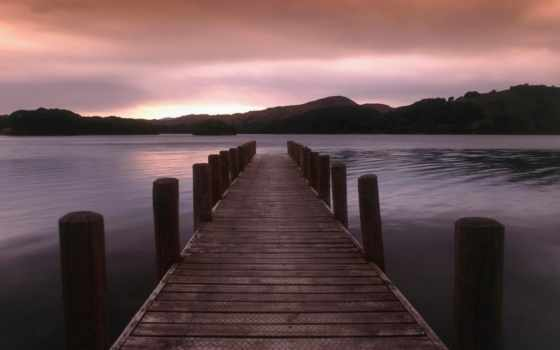 причал, wooden, озеро, озере, pier,
