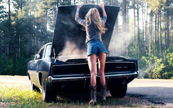 машина, девушка, devushki