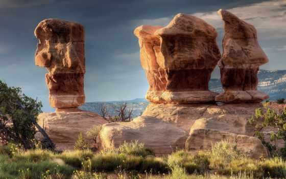 природа, каньон, гора, mountains, небо, качество, rocks, landscape, глаза, strange,