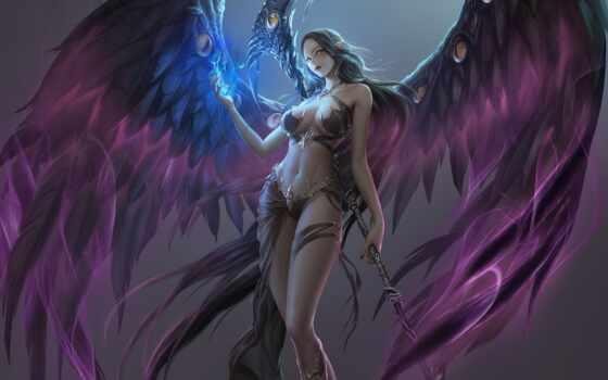 angel, league, alecta, new, retribution, play, game, лига, девушка, funpay
