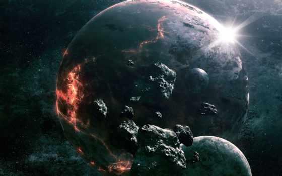 космос, art, planet