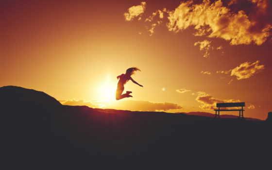 девушка, настроение, полет, силуэт, картинка, закат, скамейка, fone, песен, заката, птицы,
