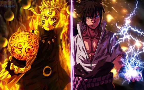 naruto, sasuke, плакат,