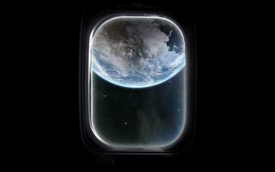 иллюминатор, cosmos, planet, land, взгляд
