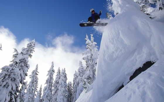сноуборд, снег Фон № 5412 разрешение 2560x1600