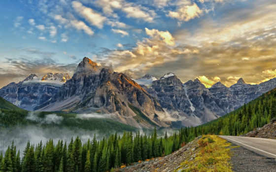 banff, park, , desktop, mount, peaks, ten, babel, mountains, para,