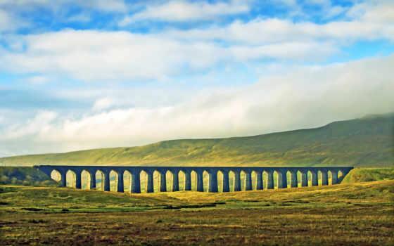 дорога, железная, трава, облако, distance, картинка, поля, oblaka, поле, esperanza,
