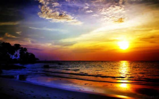 закат, красивые, море, landscape, закаты, рассветы, закатов, фотографий, мужчина, природа, солнца,