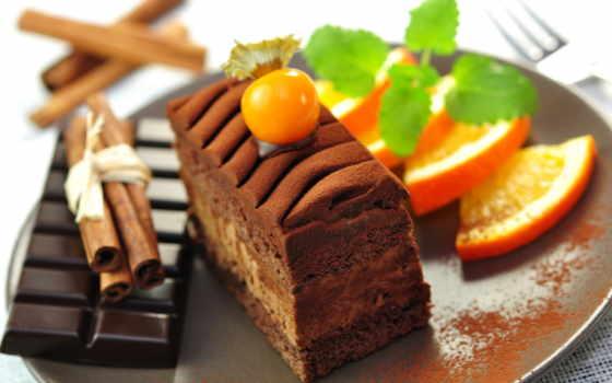 торт, десерт, еда, chocolate, cinnamon, тортик, сладкое, оранжевый, дольки, dark,